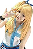 Anangelhair +Free Hair Cap Fairy Tail Lucy Heartfilia Cosplay Party Wig Ponytails Cos Halloween Anime