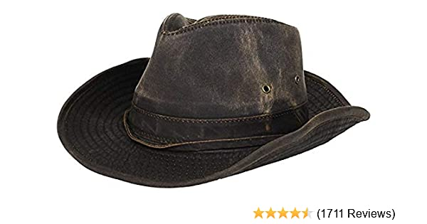 e1a9dbf25ed Dorfman Pacific Men s Outback Hat with Chin Cord at Amazon Men s Clothing  store