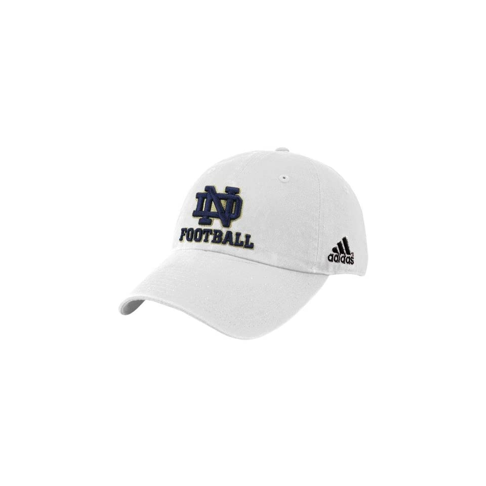 adidas Notre Dame Fighting Irish White Slouch Hat