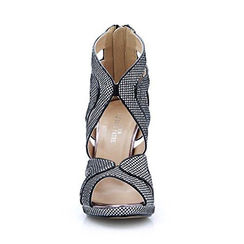 Femmes Femme Talon Black Nouvelle Belles L'été Sandales Haute Chaussures Show La Et Europe De À chaussures Banquet Annuelle Réunion awwdqxSOf