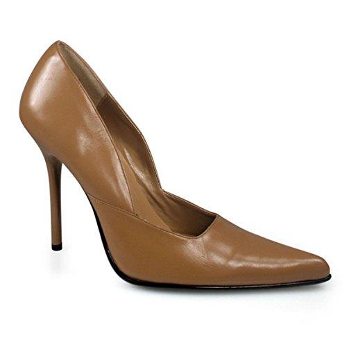 Pleaser Milan-01 Damen Hohe Sneaker Beige