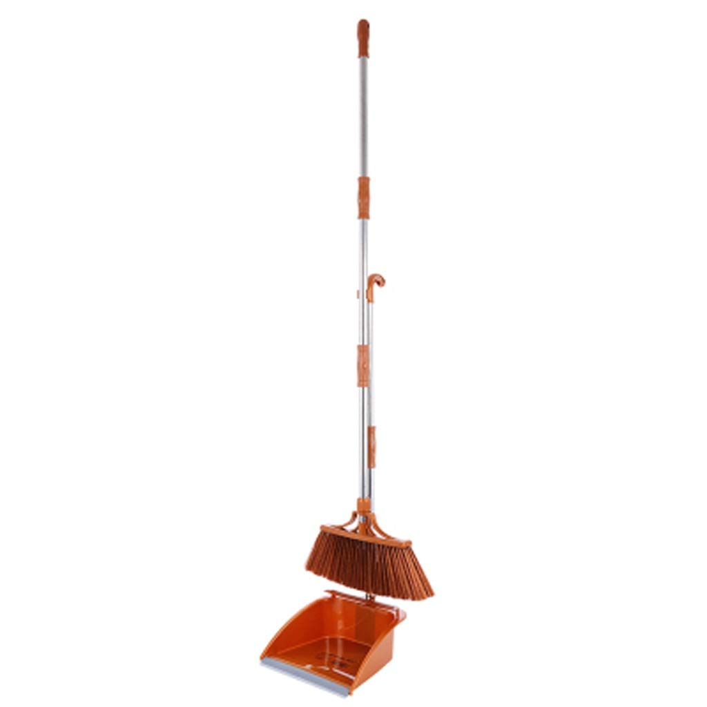 Ffrzd Plastic Broom Long Handle Broom And Dustpan Upright Broom Dustpan Set (Color : Section B) by Ffrzd