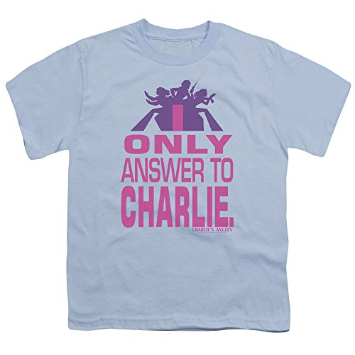 DressCode Charlies Angels - Youth Answer T-Shirt, Size: Small, Color: Light Blue