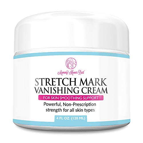 Stretch Mark Cream for Pregnancy & Scar Removal - 100% Retinol Free - Mommy Knows Best Maternity Stretch Marks Cream Removal Treatment with Cocoa and Shea Butter - Clinically Proven - 4 fl oz