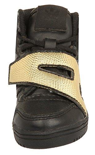 adidas Js Letter Gold I, Sneaker bambini Nero Nero/Oro