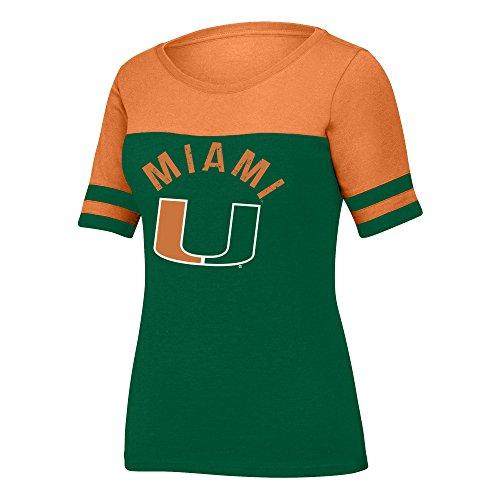 NCAA Miami Hurricanes Women's Stadium Tee, X-Large, (Osu Stadium)