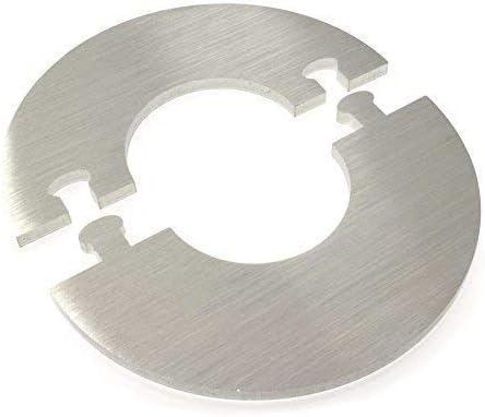 Single pour le Chauffage /Ø 12-28 MM 22 mm de diam/ètre de tuyau Exclusif Acier Inox Rond Radiateur Rosette