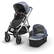 2018 UPPAbaby Vista Stroller  Henry (Blue Marl/Silver/Saddle Leather)