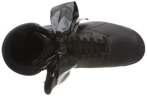 Reebok Damen Freestyle Hi Satin Bow Gymnastikschuhe Schwarz (Blackskull Grey Blackskull Grey)