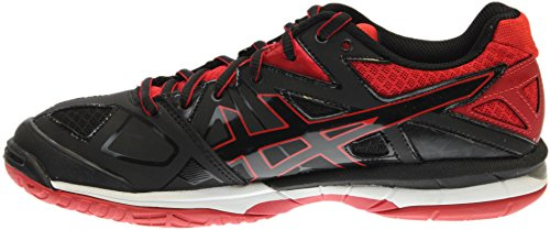 ASICS Women's Gel Tactic Volleyball Shoe, Black/Black/Fiery Red, 8.5 M US by ASICS (Image #3)