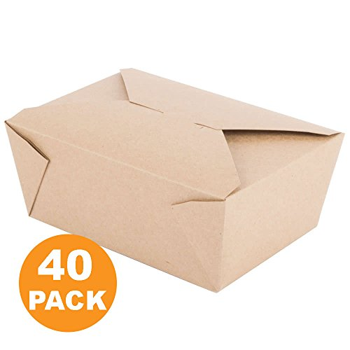 "112 OZ 8 x 5.5 x 3.5"" Disposable Paper Take Out Food Contain"