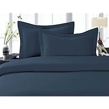 Elegant Comfort® 1500 Thread Count Wrinkle,Fade and Stain Resistant 4-Piece Bed Sheet set, Deep Pocket, HypoAllergenic - Queen Navy Blue