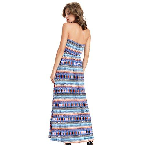 Fur Story 17B165 Femme Casual Long Off The Shoulder Dress