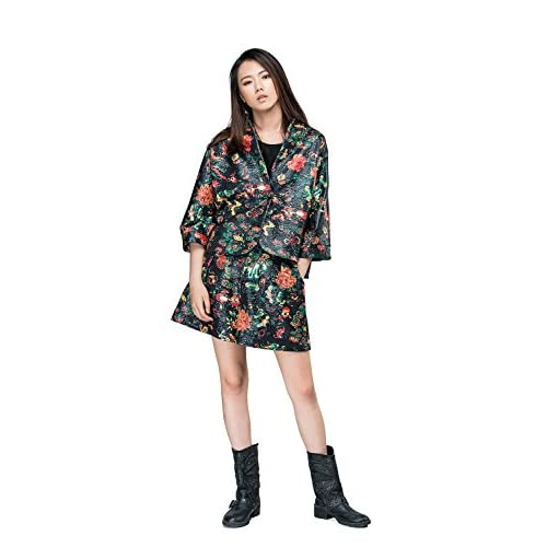 18daf4abd02 on sale OUTLINE Women s Mid Waist Floral Print Buttons Wide leg Shorts with  Pockets