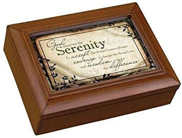 Carson Home Accents 17992 Serenity Prayer Rectangle Music Box, 8-Inch by 6-Inch by 2-3/4-Inch