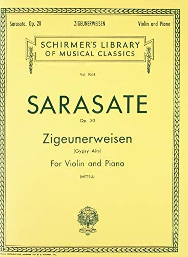 - ZIGEUNERWEISEN OP20 VIOLIN   PIANO GYPSY AIRS (Schirmer Library of Classics)