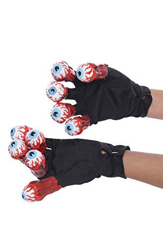 Rubie's Men's Beetlejuice Adult Gloves with Eyeballs, Multi, One Size