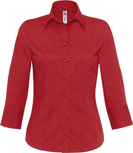 B&C - Camiseta - para mujer rojo oscuro