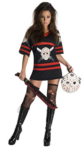Secret Wishes  Friday The 13Th, Miss Voorhees Mini-Dress And Handbag, Black, Small