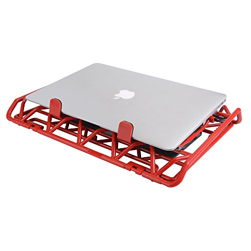 Laptop Cooling Stand - Portable USB Powered 12-15.6 inch Laptop Cooler Pad with 2 Ultra Quiet Fans and Blue LED Lights (Red) by Mebber (Image #6)