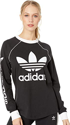 Big Logo Womens Tee (adidas Originals Women's Originals Linear Logo Longsleeve Shirt, Black, XL)