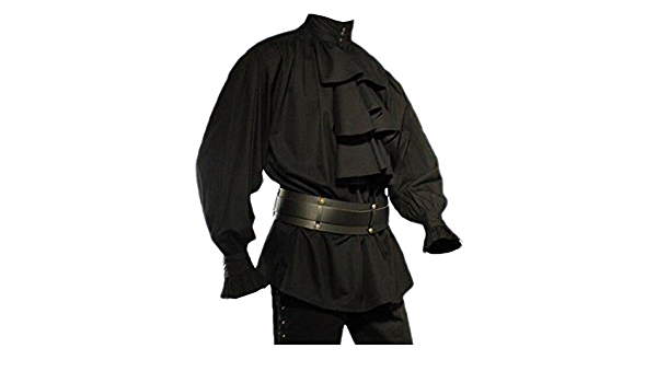 Elbenwald Mode gótica – Camisa antigua a buche – negro ...