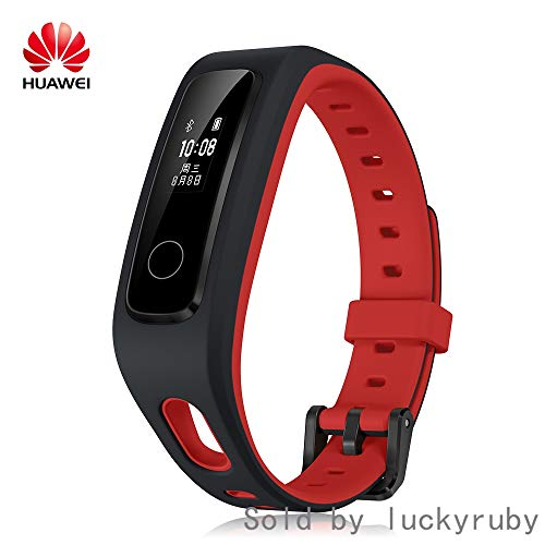 PADY-Wearable Technology Huawei Honor Band 4 Running Edition All-in-One Activity Tracker Smart Fitness Wristband GPS Multi-Sport Mode 5ATM Waterproof Anti-Lost (Red)
