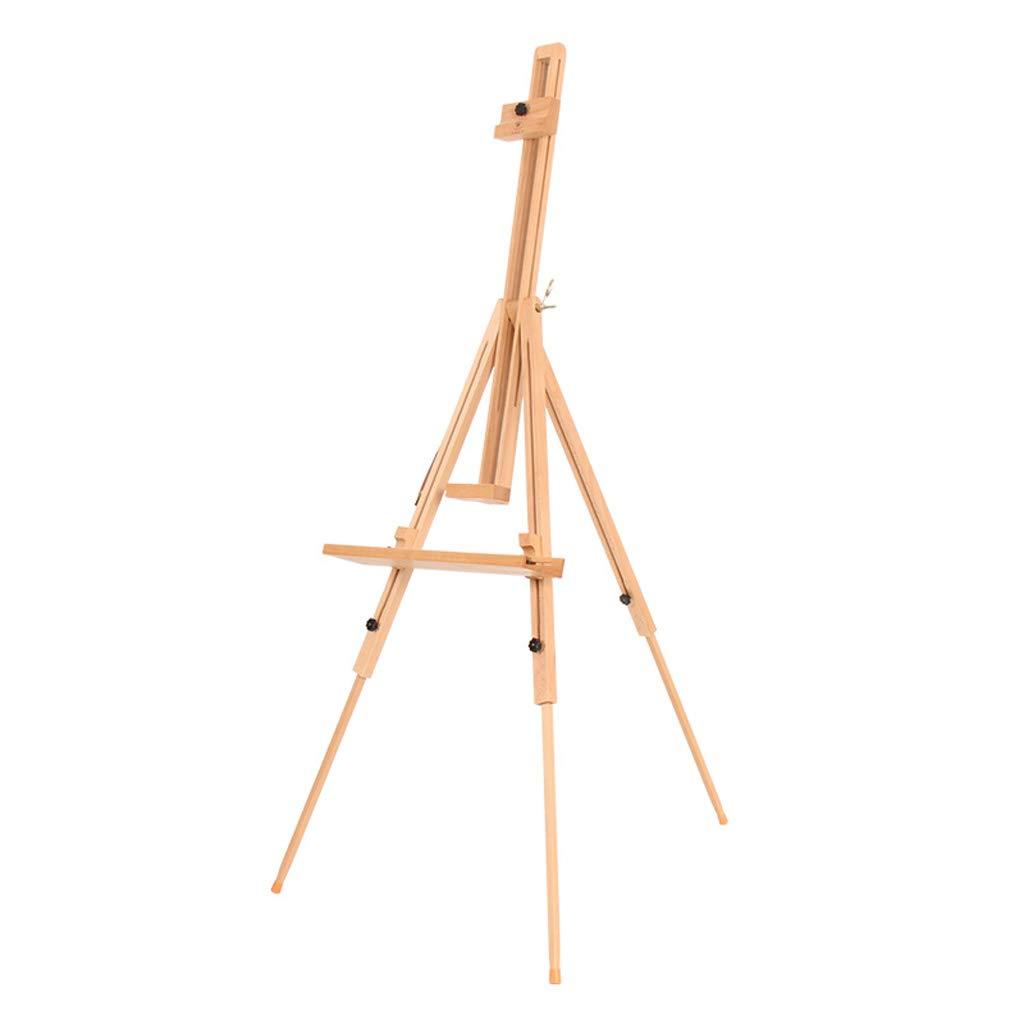 折りたたみ可能な三角形のイーゼルは、エルメ木82 * 88 * 132(192)cmの木製の色で作られたスケッチングなソリッドウッドイーゼルで実行することは容易 QYSZYG   B07RZHJFNP