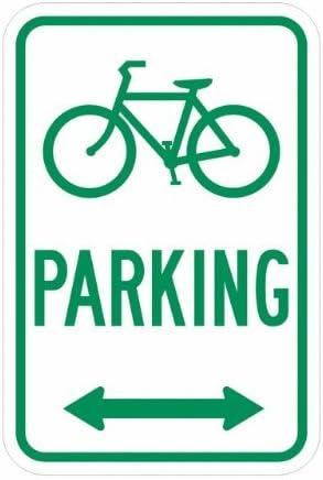 Bicicleta Aparcamiento 18 x 24 aluminio señal de Metal Signs ...