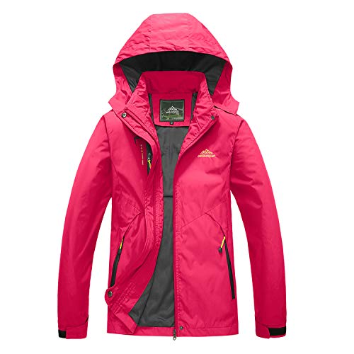 BIYLACLESEN Winter Coats for Women Fall Jackets for Women Thermal Jacket Insulated Jacket Womens Softshell Jacket Winter Jacket Hot Pink