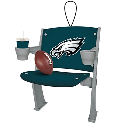 Team Sports America NFL Philadelphia Eagles Football Stadium Chair Christmas Ornament, Small, Multicolored