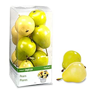 FloraCraft 9 Piece Decorative Mini Fruit Yellow/Green Pear 22