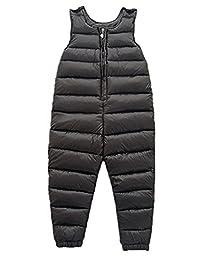 Little Girls Boys One Piece Winter Puffer Sleeveless Jacket Jumpsuit Snowsuit Romper
