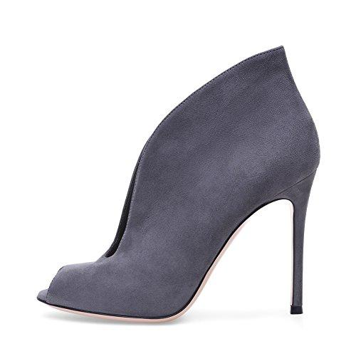 De Haut Femme Fête Sandales Gray Club Bouche De Grande 44 Mariage Sexy Plateforme KJJDE TLJ Chaussures 9 Taille Transgenre Talon Poisson Soirée De pOqFq