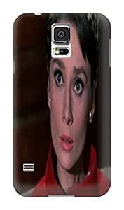Steven L.Cummings Special design tpu cover case with texture for Samsung Galaxy s5 (Audrey Hepburn)