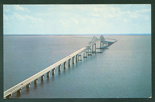 (Sunshine Skyway Bridge St. Petersburg Florida Tampa Bay Water View Postcard)