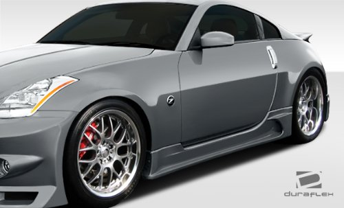 Duraflex ED-FRD-164 J-Spec Side Skirts Rocker Panels - 2 Piece Body Kit - Compatible For Nissan 350Z 2003-2008