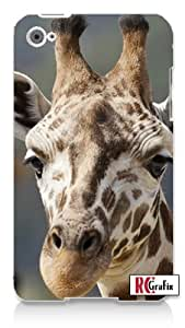 Tall Exotic Giraffe Profile Apple ipod 5 Ipod 5g Quality Hard Case Snap On Skin for ipod Gen 5 and 5, 5G (WHITE CASE)