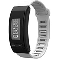 Elaco Running Fitness Tracker Digital LCD Sport Smart Bracelet Pedometer Bracelet (white)