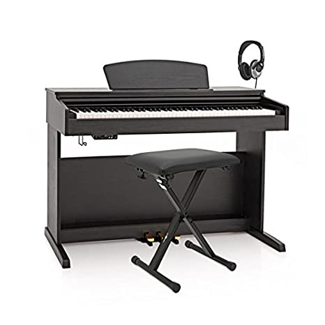 Piano Digital DP X de Gearmusic  Pack de Accesorios Negro Mate