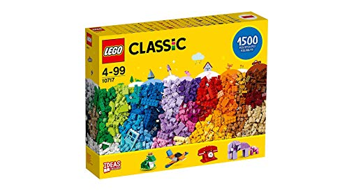 LEGO Classic Bricks Set - 10717 | 1500 Pieces | for Ages 4-99 | Plastic | 3 Levels of Building Complexity | Handy Brick Separator