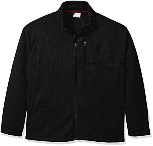 IZOD Men's Big and Tall Advantage Performance Long Sleeve Full Zip Soft Touch Fleece Jacket, deep Black, - Soft Jacket Advantage