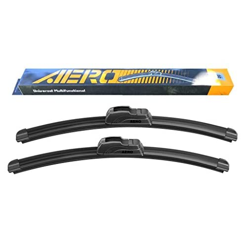 "(3 Pieces Set) 26"" + 16"" + 20"" AERO Premium All-Season J-Hook Bracketless Windshield Wiper Blades hot sale"