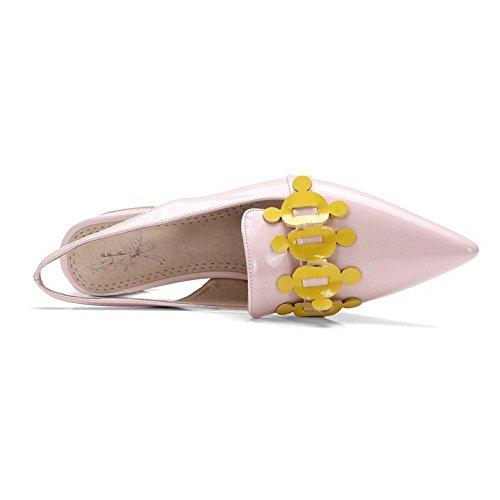 Coolcept Women Slingback Mid Heels Pumps Shoes Pink U2lPS