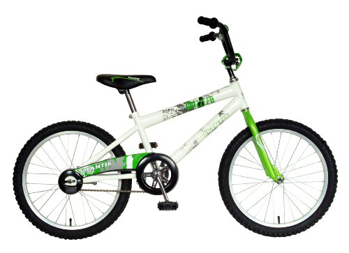 Mantis Grizzled Kid's Bike, 20 inch Wheels, 12 inch Frame, Boy's Bike, White/Green