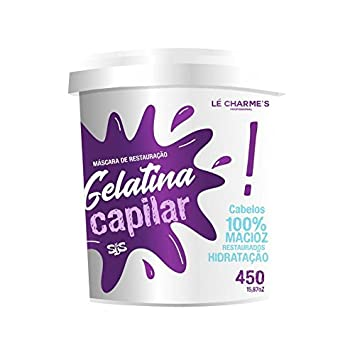 ... Mascara de Restauração Gelatina Capilar 450 Gr - (Le Charmes Cosmeticos Treatment Collection - Restoration Mask Hair Gelatin Net 15.87 Oz): Beauty