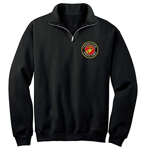 Joe Blow USMC Marines Logo 1/4 Zip Fleece Shirt