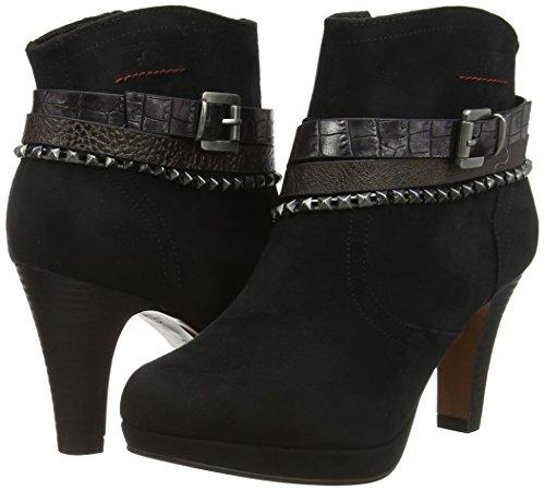 s.Oliver 25359 - botas de caño bajo de material sintético mujer negro - negro