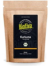 Gurkmeja pulver organiskt 250 g – högkvalitativ gurkmeja rot (Curcumin – återförslutningsbar dragkedja – förpackad i Tyskland (DE-ECO-005)