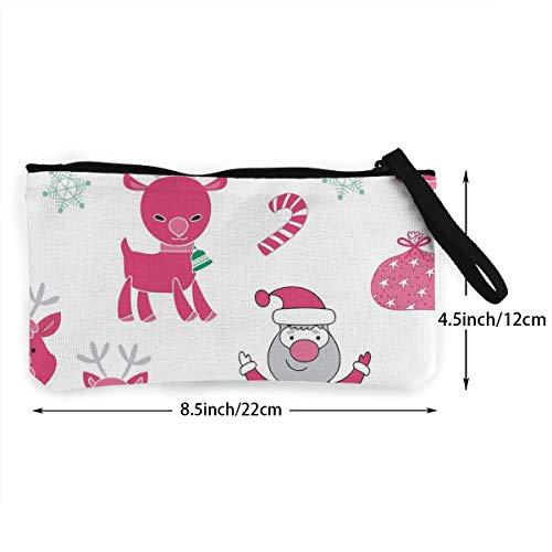 142e89a46f0e XIANGXIANG SHOP Santa Claus Elk Illustration Canvas Coin Purse Portable  Bags Clutch Pouch Storage Bags